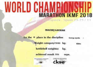World Championship Kettlebell Marathon IKMF 2018
