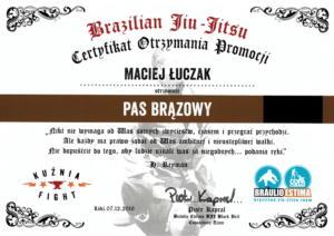 Brązowy pas BJJ Maciej Łuczak