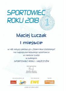 Sportowiec roku 2018m