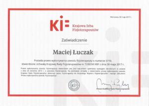 Prawo wykonywania zawodu Fizjoterapeuty Maciej Luczak